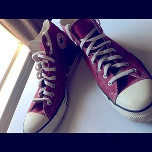 Maroon Men Converse